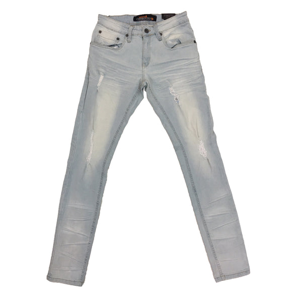 Copper Rivet Slim Fit Jean (Light Sand Blue)