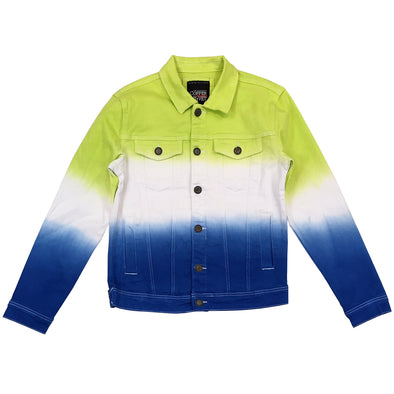 Copper Rivet Two Tone Jacket (Lime/Royal)