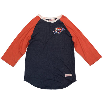 Mitchell & Ness Oklahoma City Thunder Raglan Tee - Fashion Landmarks