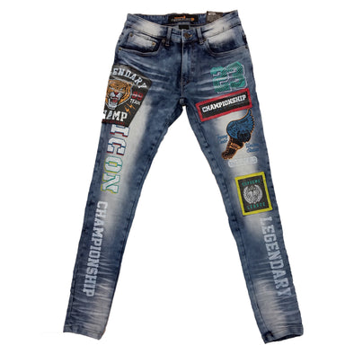 Copper Rivet Legendary Jean (Blue) - Fashion Landmarks