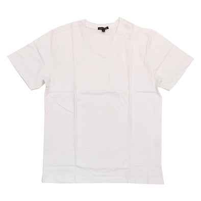 Rich Cotton Premium V Neck Plain Tee (White)