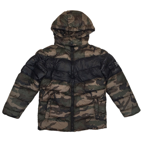 Mad Blue Padding Jacket (Wood Camo)