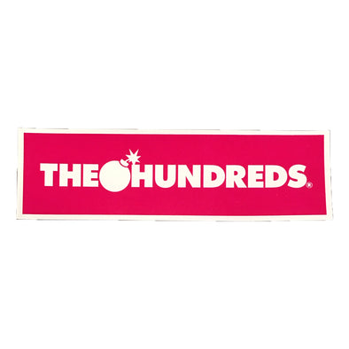 The Hundreds Logo Sticker (Pink)