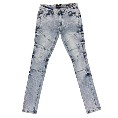 Upstreamers Side Pocket Biker Jean (Ice Blue)
