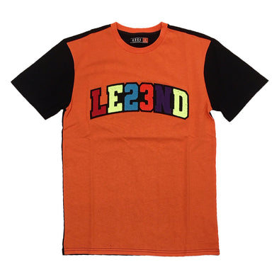 Huge LE23ND Chneille Patch Tee (Orange) - Fashion Landmarks