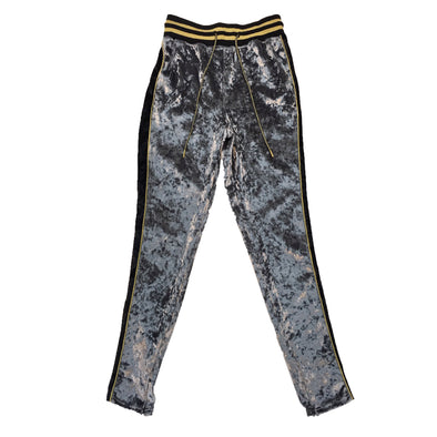 Switch Velour Track Pant (Grey) - Fashion Landmarks