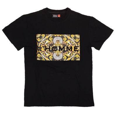 Huge L'Homme Embossed Tee (Black)