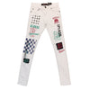 Copper Rivet Racing Jean (White) - Fashion Landmarks