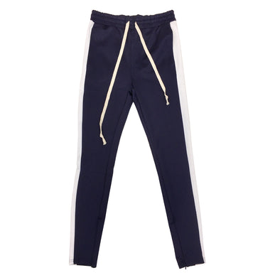 Huge Single Strip Track Pant (Navy/White)