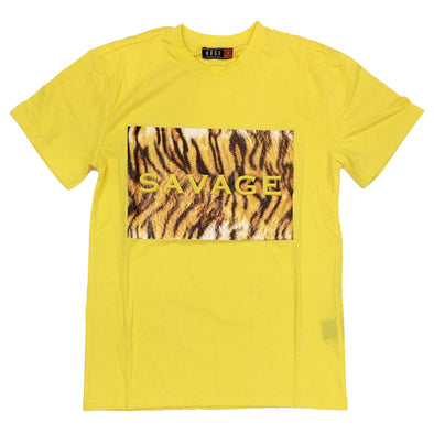 Huge Savage Embossed Tee (Bright Yellow)