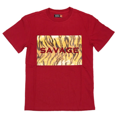 Huge Savage Embossed Tee (Red)