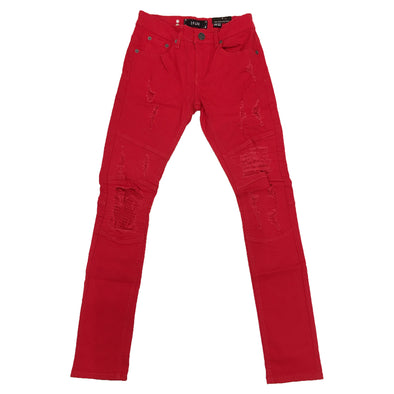 Spark Biker Ripped Jean (Red)
