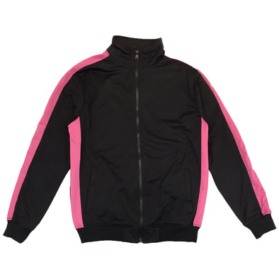 Rebel Minds Track Jacket (Black/Pink) - Fashion Landmarks