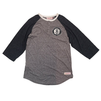 Mitchell & Ness Brooklyn Nets Raglan Tee - Fashion Landmarks