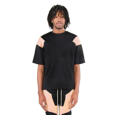 EPTM ENGINEERED COLOR BLOCK TEE (Black/Peach)