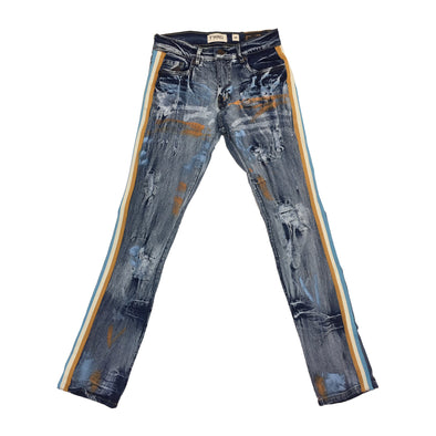 Evolution Painter's Stripe Denim Jean (Ice Blue)