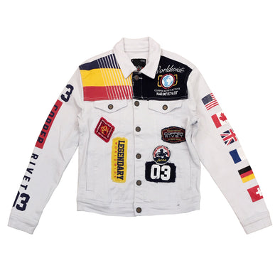 Copper Worldwide Denim Jacket (White)