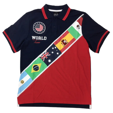 KRISP International Flags Polo Shirt (Navy) - Fashion Landmarks