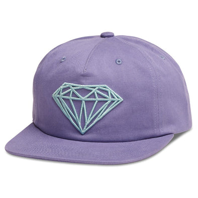 Diamond Supply Brilliant Unconstructed Snapback (Purple) - Fashion Landmarks