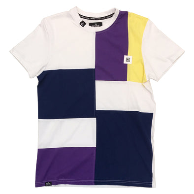 R.S.1NE Color Block TEE (White) - Fashion Landmarks