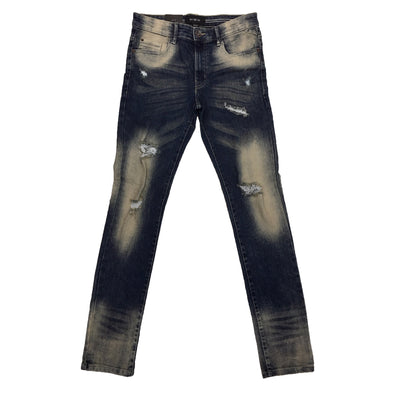 WT02 Medium Sand Blue Ripped Jean