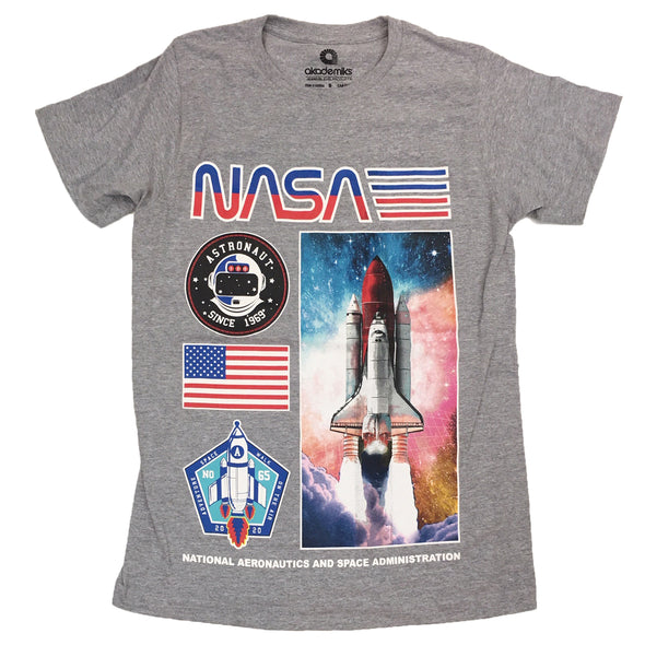 Akademiks Nasa Space Ship Tee (Grey)