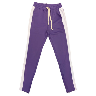Huge Single Strip Track Pant (Lavender/White) - Fashion Landmarks