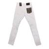 Copper Rivet Ripped Slim Jean (White) - Fashion Landmarks