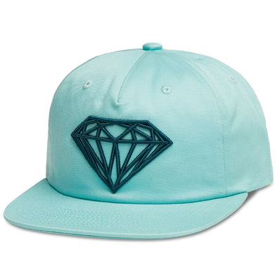 Diamond Supply Brilliant Unconstructed Snapback (Diamond Blue) - Fashion Landmarks