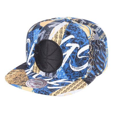 new style 83b2d 7f7dd Mitchell   Ness Paysage Snapback Golden States Warriors