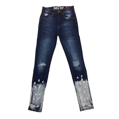 Black Pike Painted Two Tone Jean (Blue)