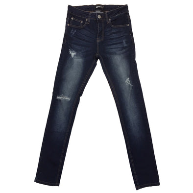 Royal Blue Ripped Skinny Jean (Carter) - Fashion Landmarks