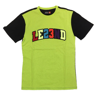 Huge LE23ND Chneille Patch Tee (Lime) - Fashion Landmarks