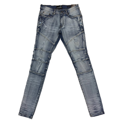 Upstreamers Side Pocket Biker Jean (Light Sand Blue)