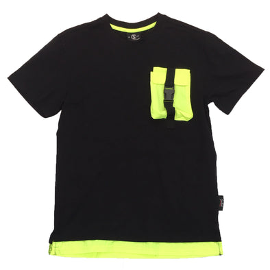 Switch Pocket Strap Tee (Black/Lime)