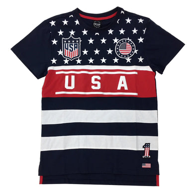 KRISP USA Tee (Navy) - Fashion Landmarks