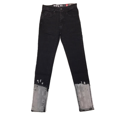 Black Pike Painted Two Tone Jean (Black)