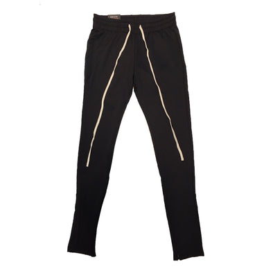 ROYAL BLUE SINGLE STRIP TRACK PANTS (Black/Black) - Fashion Landmarks