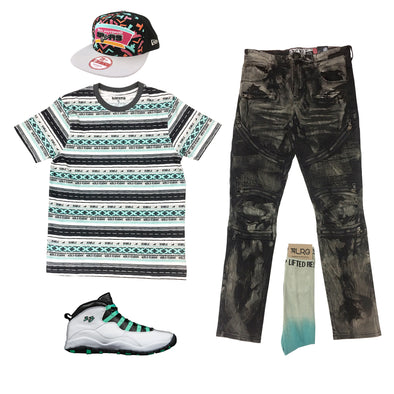 Air Jordan 10 GG Verde Outfit - Fashion Landmarks