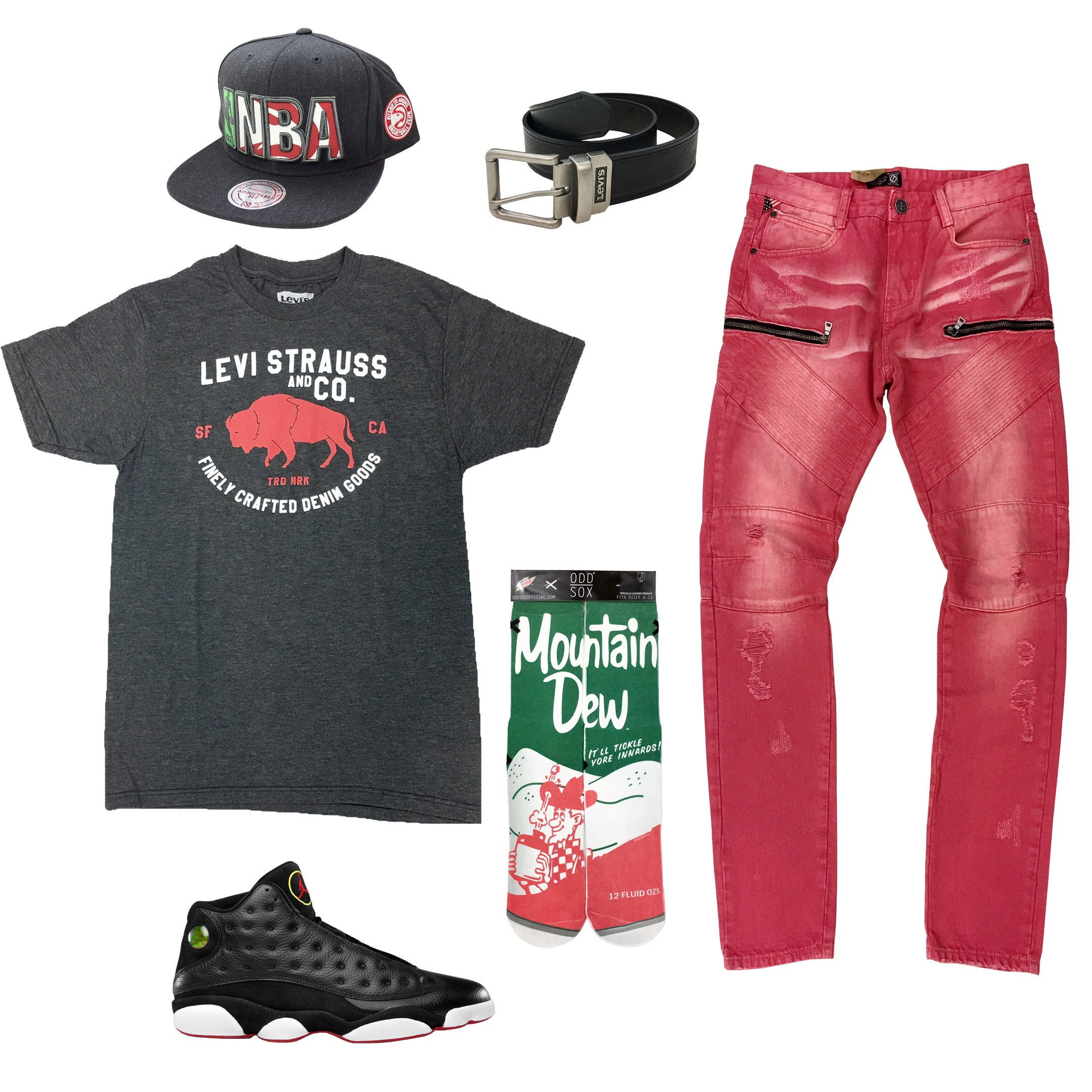 302960329ca1 Air Jordan 13 Playoff Outfit9.99 USDHat