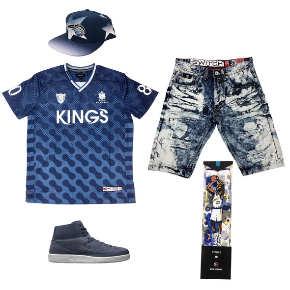 Air Jordan 2 Deconstructed Navy Outfit - Fashion Landmarks