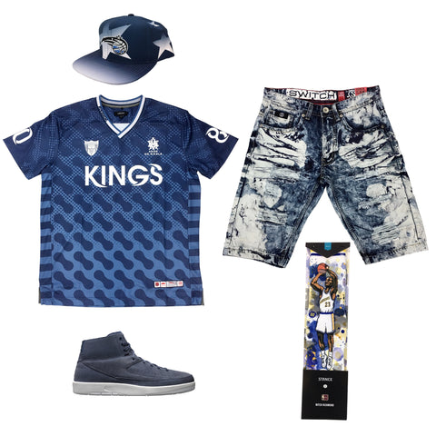 Air Jordan 2 Deconstructed Navy Outfit