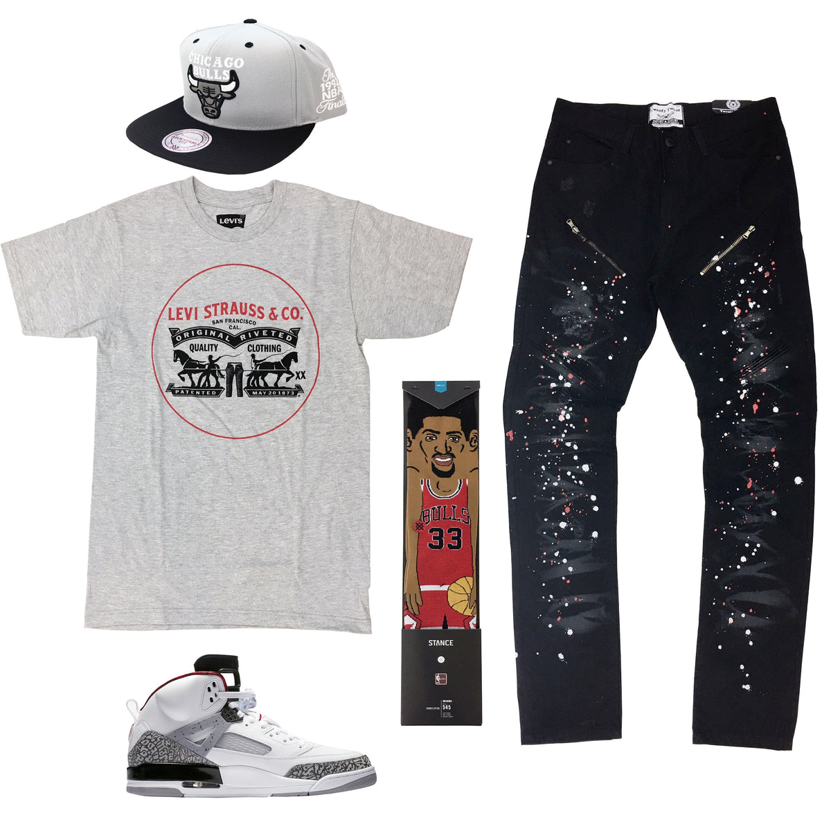 2b4c2ef8bc6 Air Jordan Spizike Cement Outfit16.00 USDHat