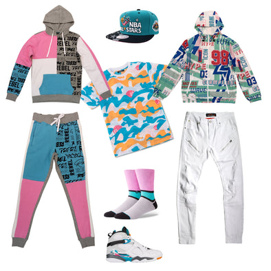 Air Jordan Retro 8 South Beach Outfit - Fashion Landmarks