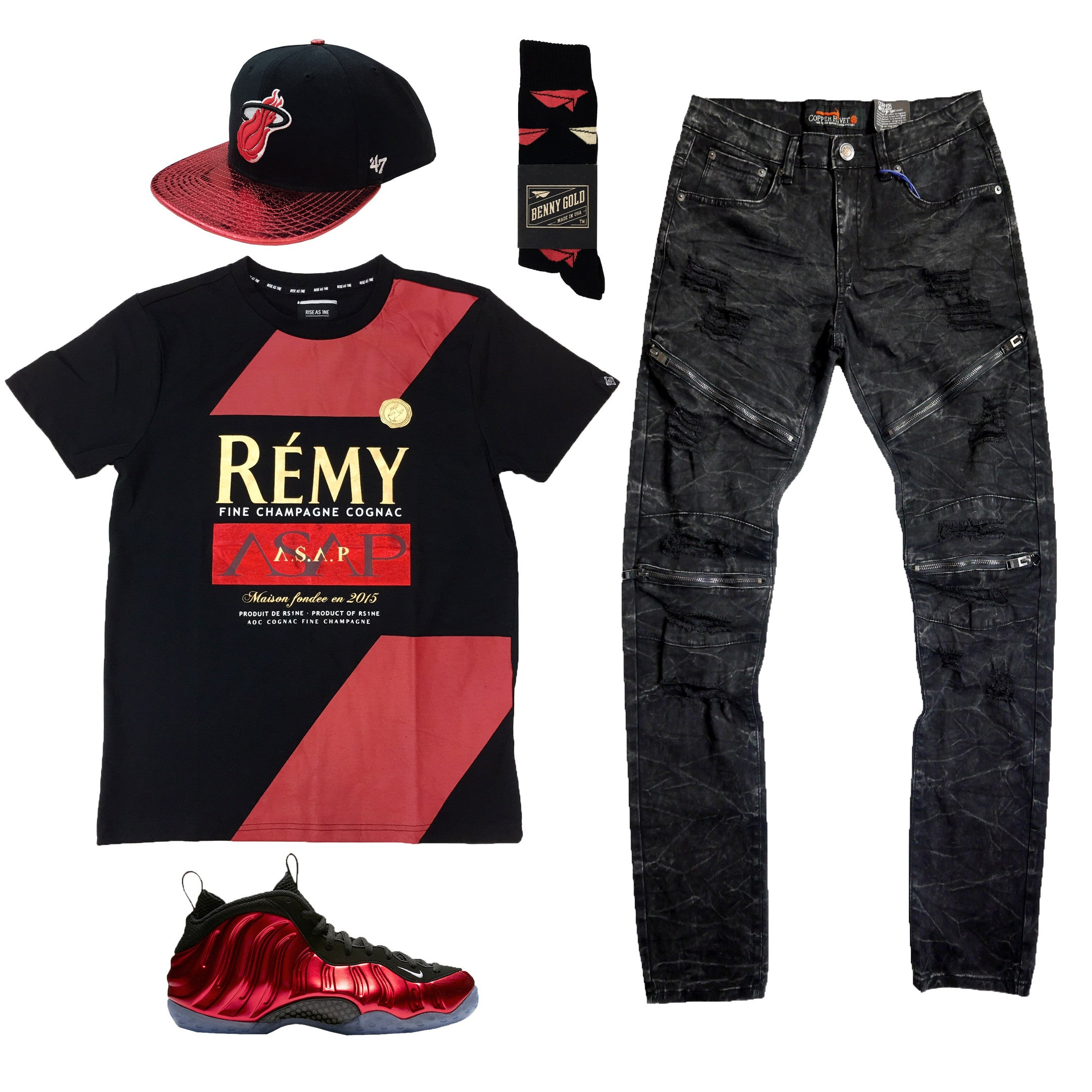 00a5caac682d4 Nike Foamposite One Metallic Red Outfit8.00 USDHat