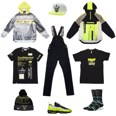 Nike Air Max 95 Volt/Black Outfit