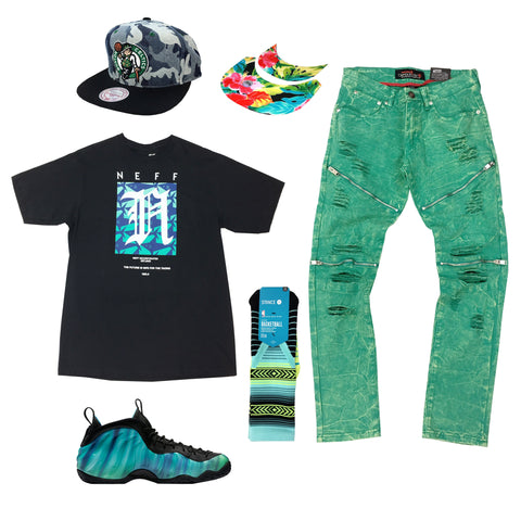 Nike Foampostie Northern Light Outfit - Fashion Landmarks