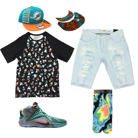 Nike Lebron 12 Teal / Orange Outfit - Fashion Landmarks