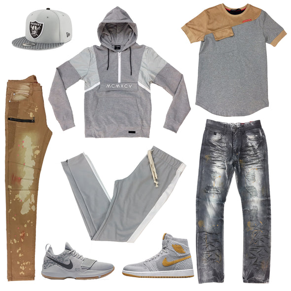 Jordan 1 Flyknit The Wolf Grey/Golden and Nike PG 1 Superstition Outfit - Fashion Landmarks