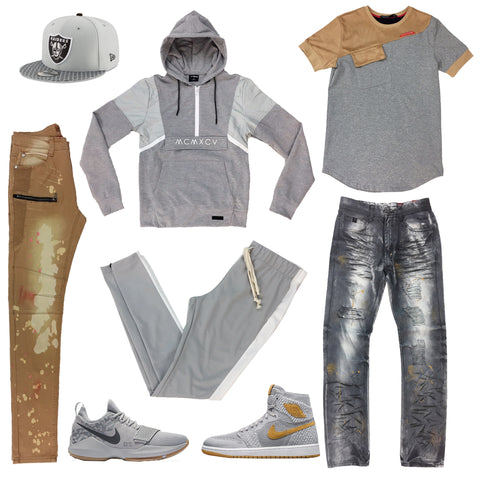 Jordan 1 Flyknit The Wolf Grey/Golden and Nike PG 1 Superstition Outfit